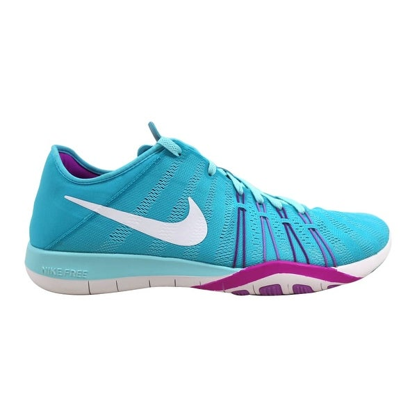 c503791074e5 ... Women s Athletic Shoes. Nike Free TR 6 Gamma Blue White-Hyper  Volt-Fuchsia Glow 833413-