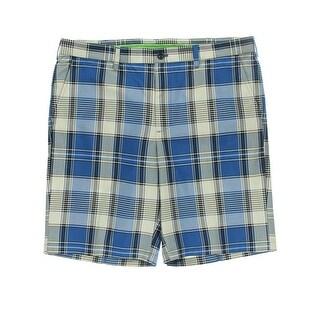 Izod Mens Moisture Wicking Plaid Casual Shorts - 30