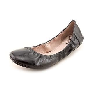 Vince Camuto Ellen Round Toe Leather Ballet Flats