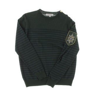 Laboratory Mens Pullover Sweater Embellished Striped