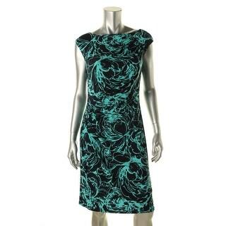 American Living Womens Matte Jersey Printed Wear to Work Dress - 14
