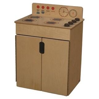 Wood Designs 10180BN Tip-Me-Not Range With Brown Knobs