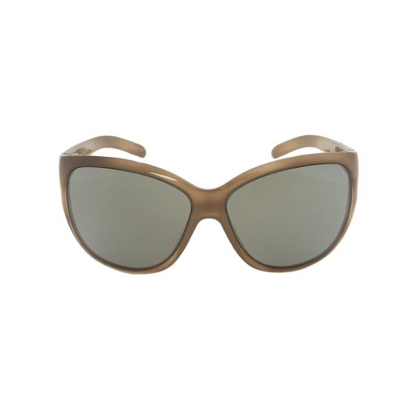 Porsche Design Design P8524 B Oval Sunglasses   Brown Horn Frame   Light grey Lens - 65mm x 13mm x 125mm. Opens flyout.