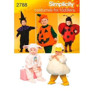 Simplicity Toddlers Costumes-1/2,1,2,3,4 - 1/2,1,2,3,4