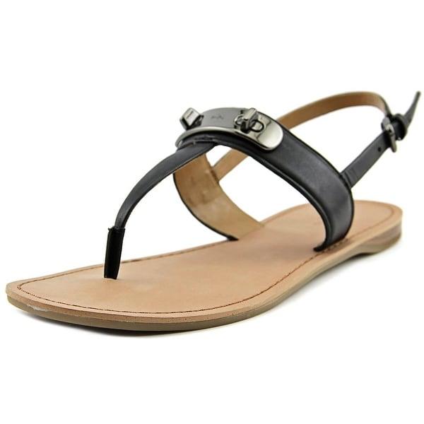 Coach Gracie Women Open-Toe Leather Slingback Sandal