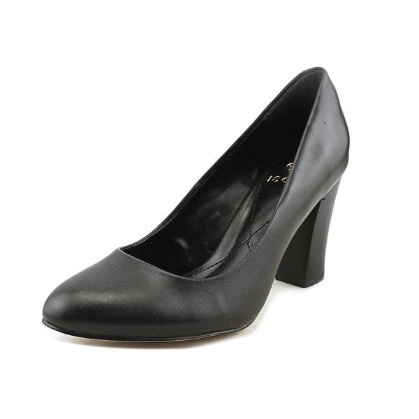 Isola Rosalie Women Round Toe Leather Black Heels