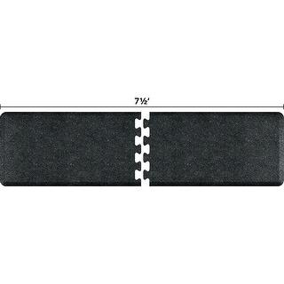 WellnessMats Anti-Fatigue Puzzle Set Office & Kitchen Mat, 7.5 Feet by 2 Feet, Granite Onyx - granite onyx