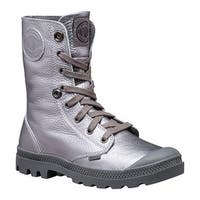 Palladium Women's Baggy Metallic Leather Boot Pewter/Metal