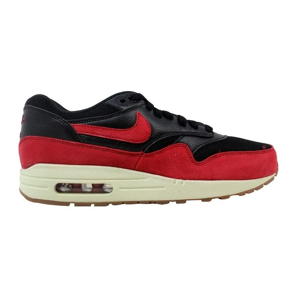 low priced 8bc2c 5fb44 Nike Air Max 1 Essential Black Gym Red-Sail-Gum Medium Brown 599820