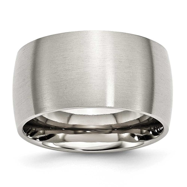 Stainless Steel 12mm Brushed Band