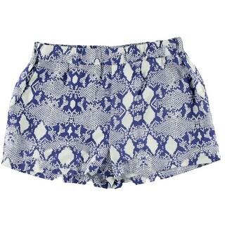 Aqua Womens Lined Snake Print Casual Shorts
