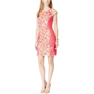 Ronni Nicole Womens Casual Dress Lace Floral Print