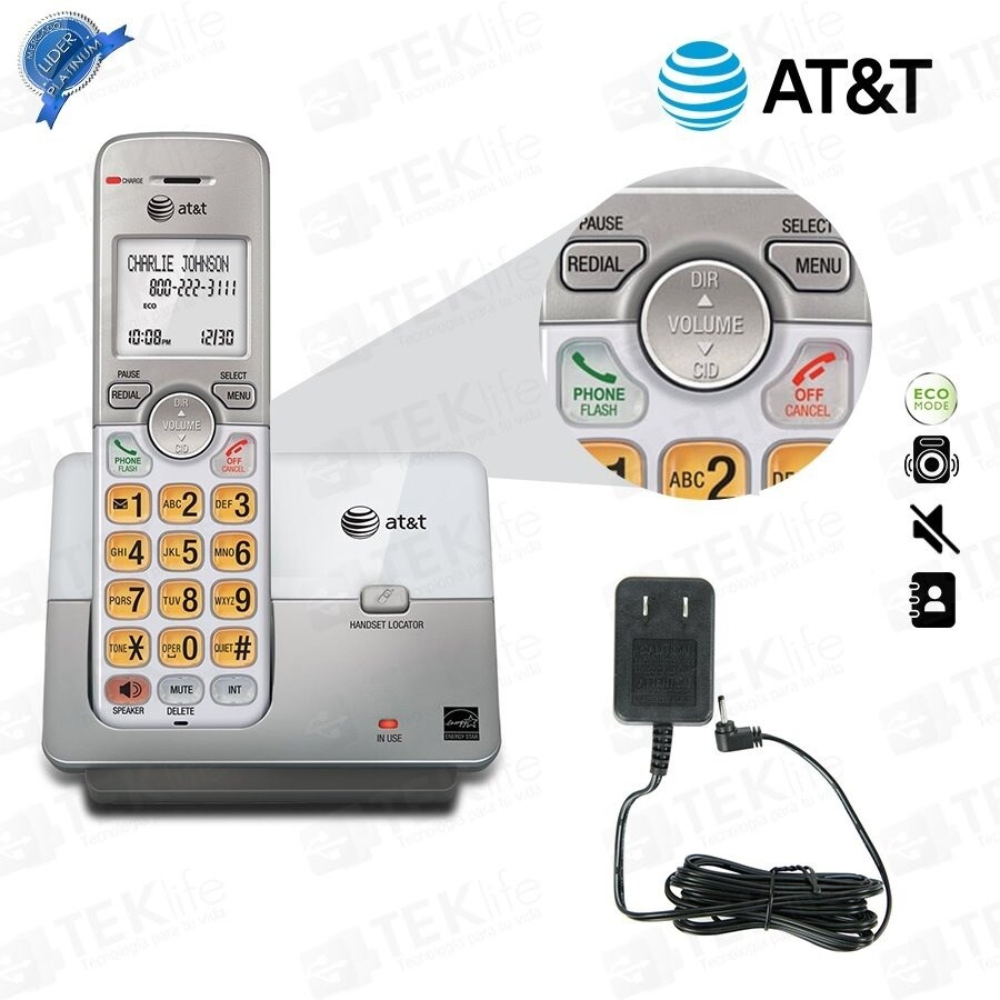 AT/&T EL51203 DECT 6.0 Phone With Caller Id//call Waiting 2 Cordless Handsets
