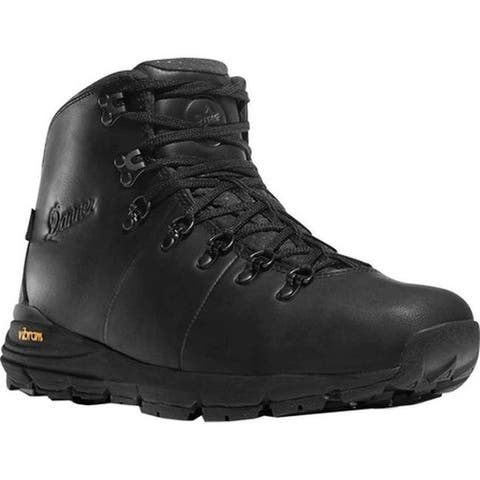 "Danner Men's Mountain 600 4.5"" Hiking Boot Carbon Black Full Grain Leather"