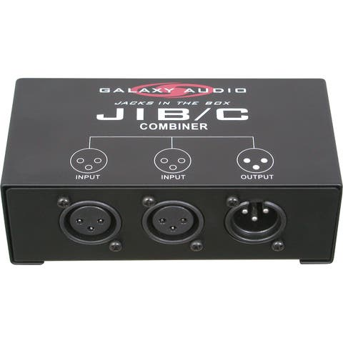 Microphone Input Combiner Junction Box Joins Two Mics Into One Output