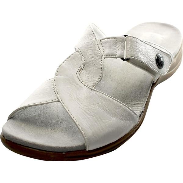 Easy Street Spark Women Open Toe Synthetic White Slides Sandal