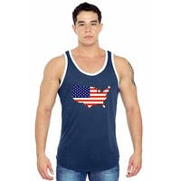 Men's USA Flag Tank Top Country Love Stars & Stripes Pride American Muscle Shirt
