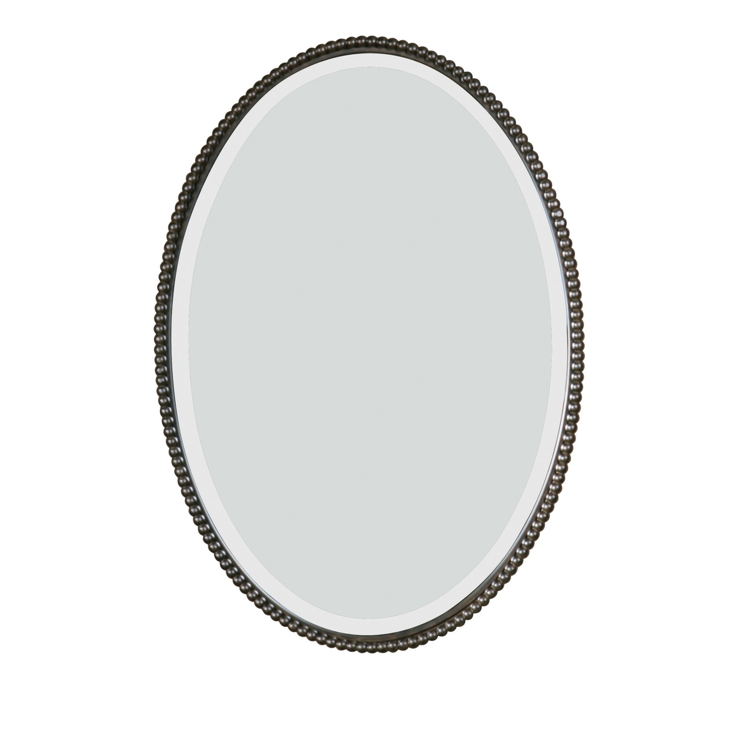 Uttermost 01101 B Sherise Oval Vanity Bathroom Wall Mirror With Beaded Oil Rubbed Bronze Overstock 22921555