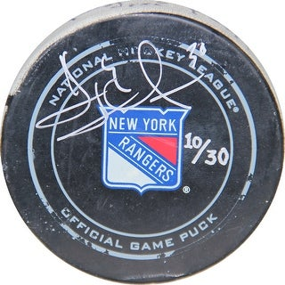 Henrik Lundqvist Signed 2015-2016 Game Used Puck ()