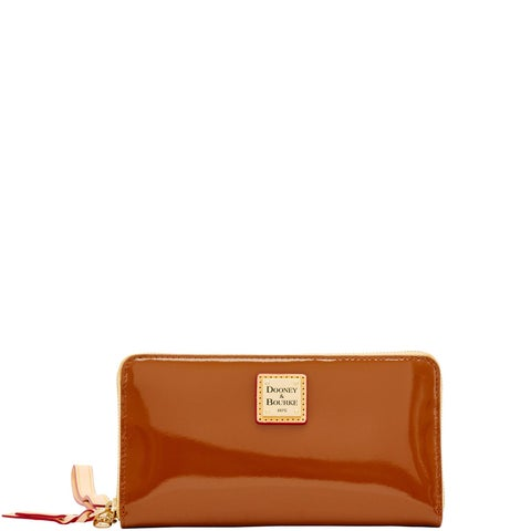 Dooney & Bourke Patent Large Zip Around Wristlet Wallet (Introduced by Dooney & Bourke at $138 in Feb 2018)