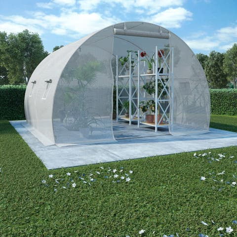"vidaXL Greenhouse 96.9ft² 118.1""x118.1""x78.7"""