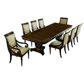 """Manchester Dining Table with two 20"""" leaves - Brown"""