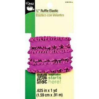 "Purple Wine - Ruffle Elastic 5/8""X1yd"