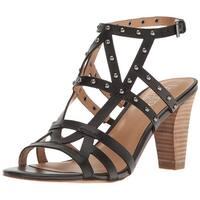 Franco Sarto Womens Calesta Leather Open Toe Casual Strappy Sandals