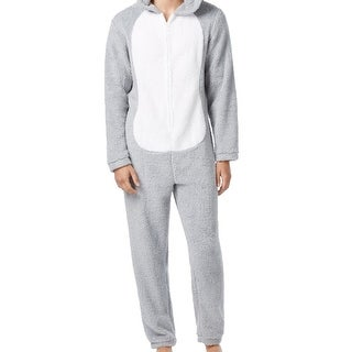 Briefly Stated NEW Gray Men Size Large L Bugs BunnyOne-Piece Pajama Sets
