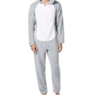 Briefly Stated NEW Gray Mens Size Medium M Bugs Bunny Hooded Jumpsuit