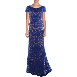 Tadashi Shoji Womens Cap Sleeve Prom Formal Dress