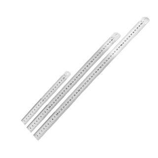 Unique Bargains Dual Side Drafting Measuring Straight Ruler Tool 20cm 40cm 50cm 3 in 1