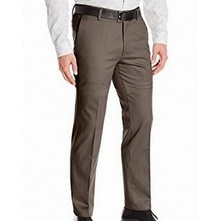 Dockers NEW Brown Mens Size 28X32 Khakis Flat Front Slim Fit Pants