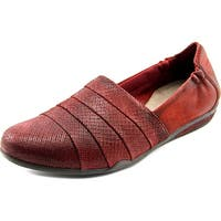 Earth Marsala Women  Round Toe Leather Burgundy Loafer