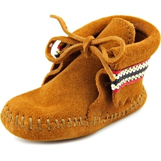 Minnetonka Braid Bootie Infant Round Toe Suede Bootie