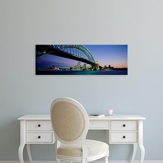 Easy Art Prints Panoramic Image 'View of a bridge, Sydney Harbor Bridge, Sydney, New South Wales, Australia' Canvas Art