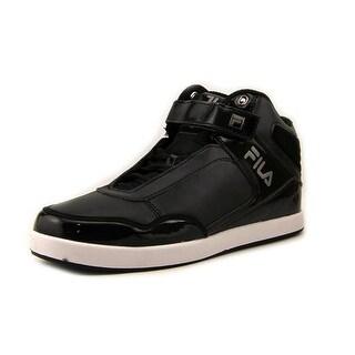 Fila Displace 2 Men Round Toe Leather Black Sneakers