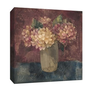 """PTM Images 9-152551  PTM Canvas Collection 12"""" x 12"""" - """"Hydrangea Study III"""" Giclee Hydrangeas Art Print on Canvas"""