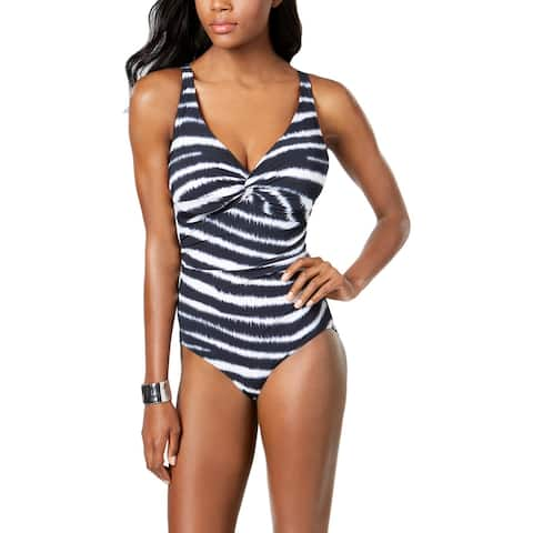 Contours by Coco Reef Womens Sapphire Underwire Shaping One-Piece Swimsuit - Black - 36C