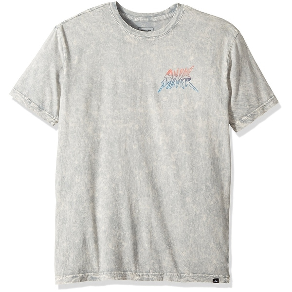 9eb6c11ba88e0 Shop Quiksilver Gray Acid Wash Mens Size XL Graphic Tee Cotton Shirt - Free  Shipping On Orders Over  45 - Overstock - 22109015