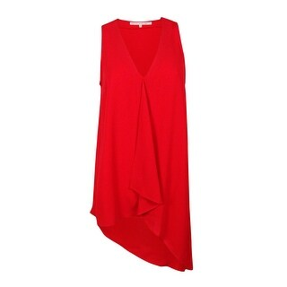 Rachel Roy Women's Sleeveless V-Neck Top - Fire Red - m