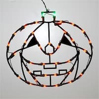 16 in. Lighted LED Pumpkin Halloween Window Silhouette Decoration