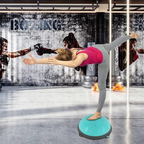 Yoga Ball Balance Hemisphere Fitness for Gym Office Home Blue - Medium