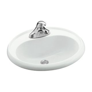 "Sterling 75010140 20"" Vikrell Drop In Bathroom Sink With Three Holes Drilled And Overflow"