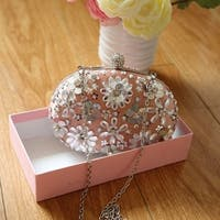 Flower Purses For Women Luxury Rhinestone Crystal Evening Clutch Bags