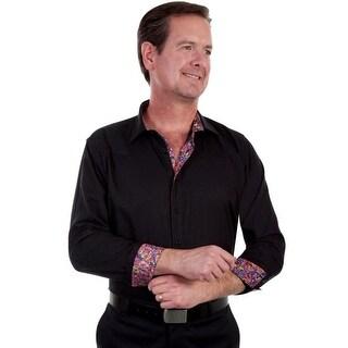 Scully Western Shirt Mens Top Shelf L/S Tonal Le Fleur Button PS-209