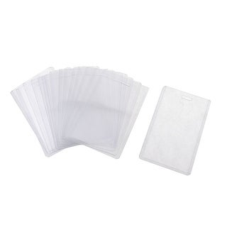Unique Bargains 20 Pcs Plastic Vertical Name Tag Holders School Office Bank Students Stationery Clear