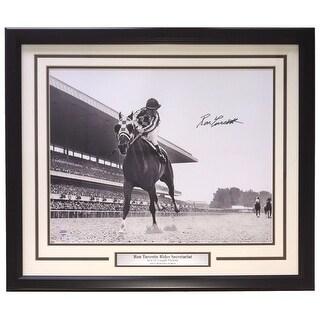 Ron Turcotte Secretariat Signed Framed 1973 Belmont Stakes 16x20 Photo SI