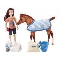 "Breyer Classics Bath Time Fun 6"" Doll and Pony Activity Set - multi"