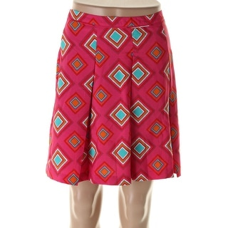 Tommy Hilfiger Womens Printed Knee-Length Flare Skirt - 12